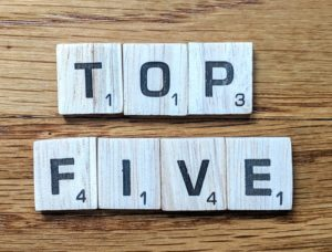 Top Five Lists, Top 5 Finance Lists, Top 5 Lists Investing.