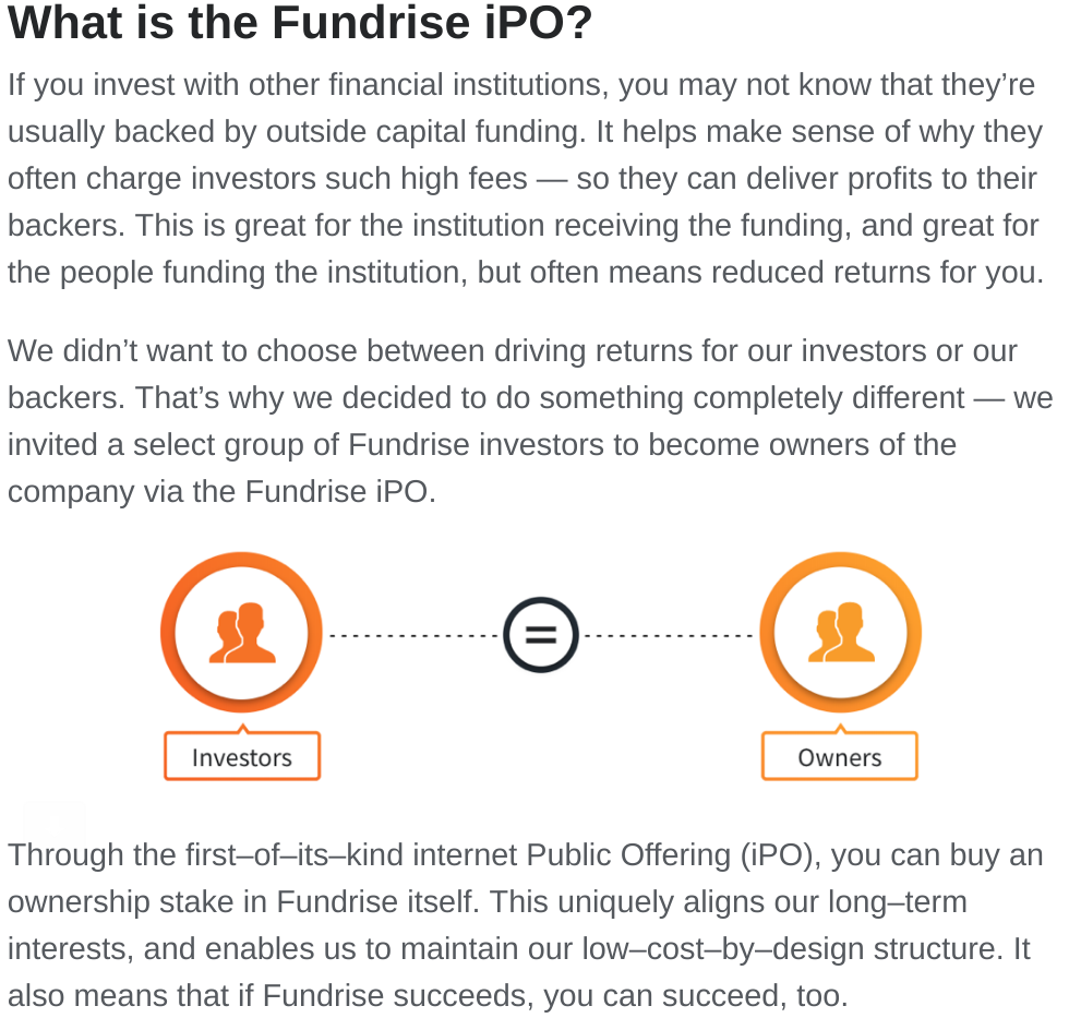 Fundrise, iPO, internet public offering