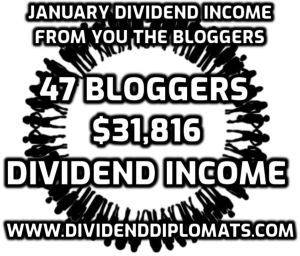 Dividend income summary articles from the dividend investing community. In January 2020, 47 dividend bloggers produced nearly $32,000 in dividend income!